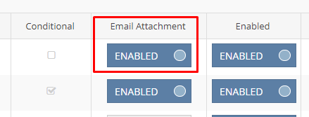 'Email Attachment' needs to be enabled on the invoice template