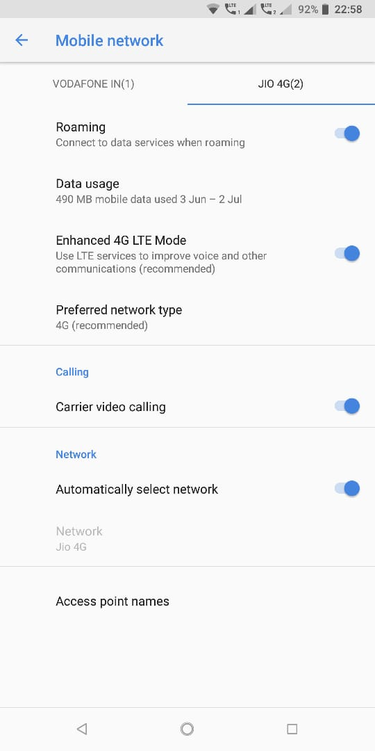 VoLTE not working after June patch — Nokia phones community