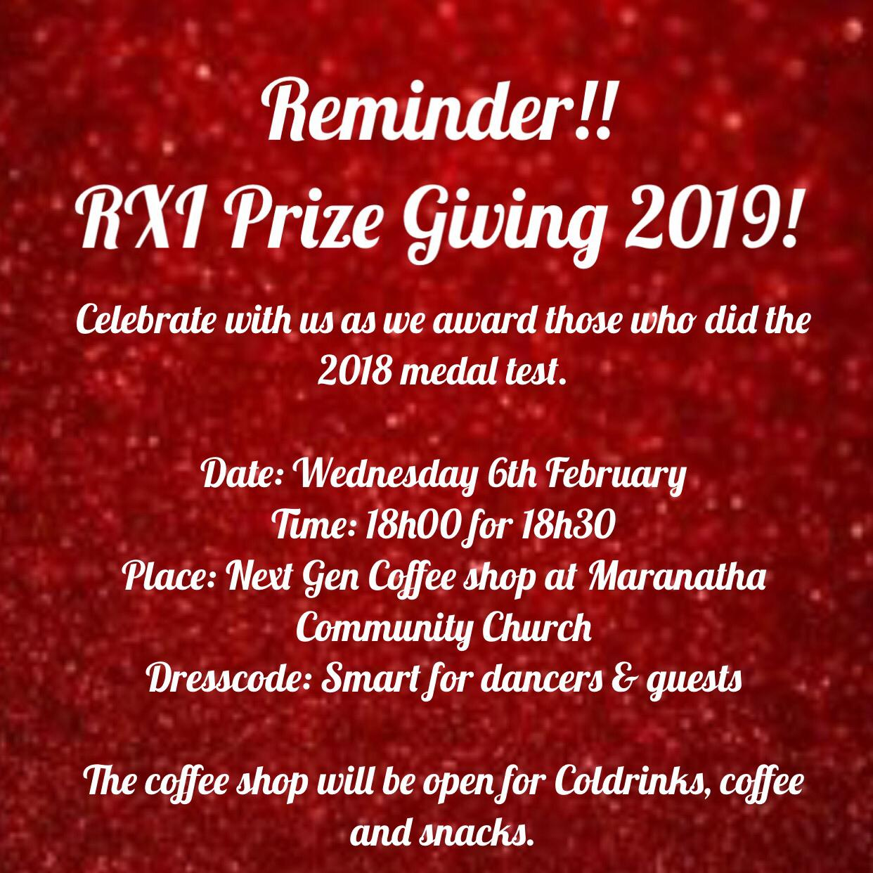 RX1 Prize Giving 2019