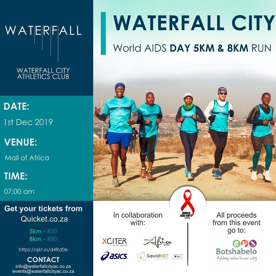 Waterfall City - World Aids Day 5 & 8km Fun Run (2019)