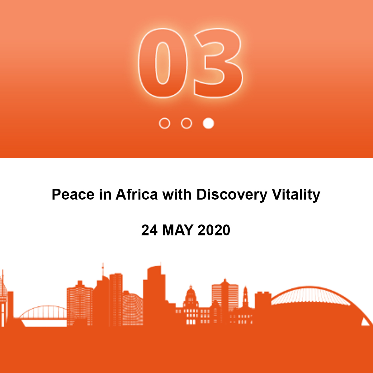 Peace in Africa with Discovery Vitality (2020)