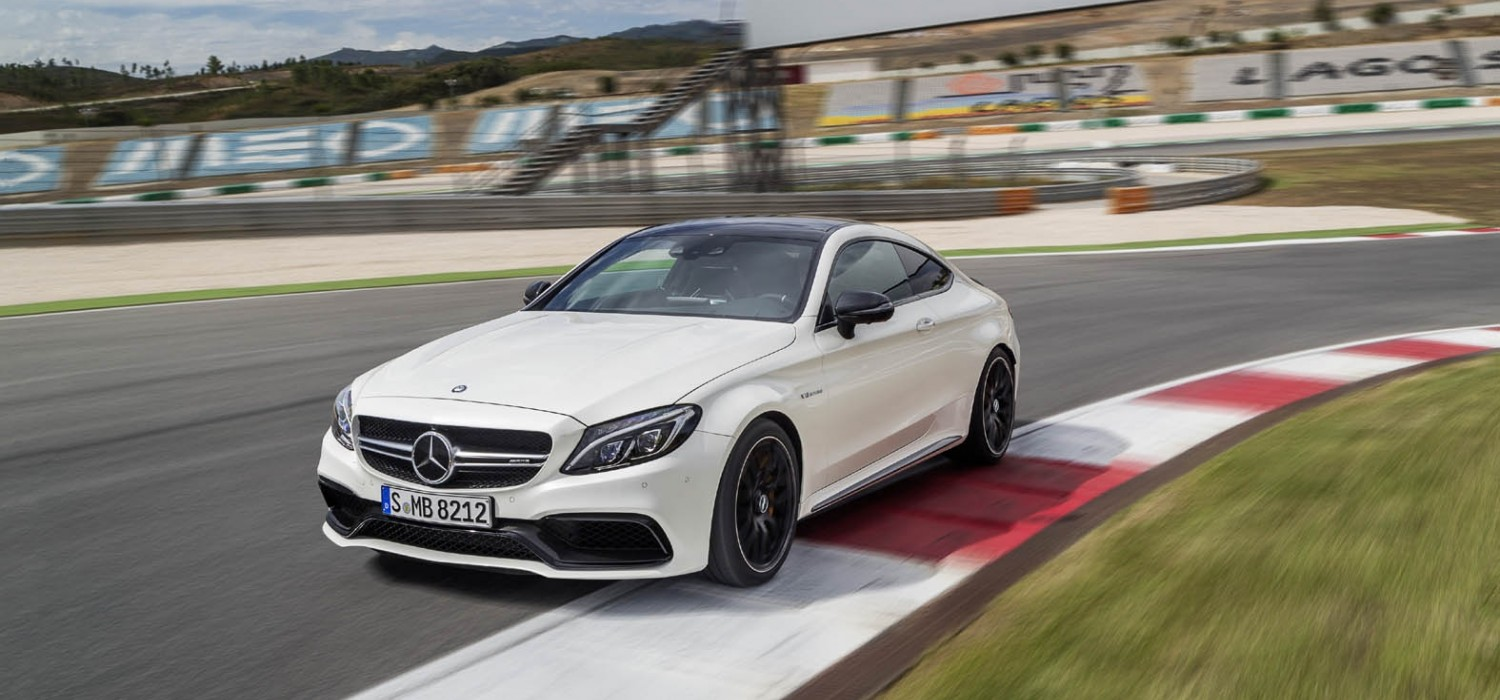 New AMG C63 Coupe shot in action