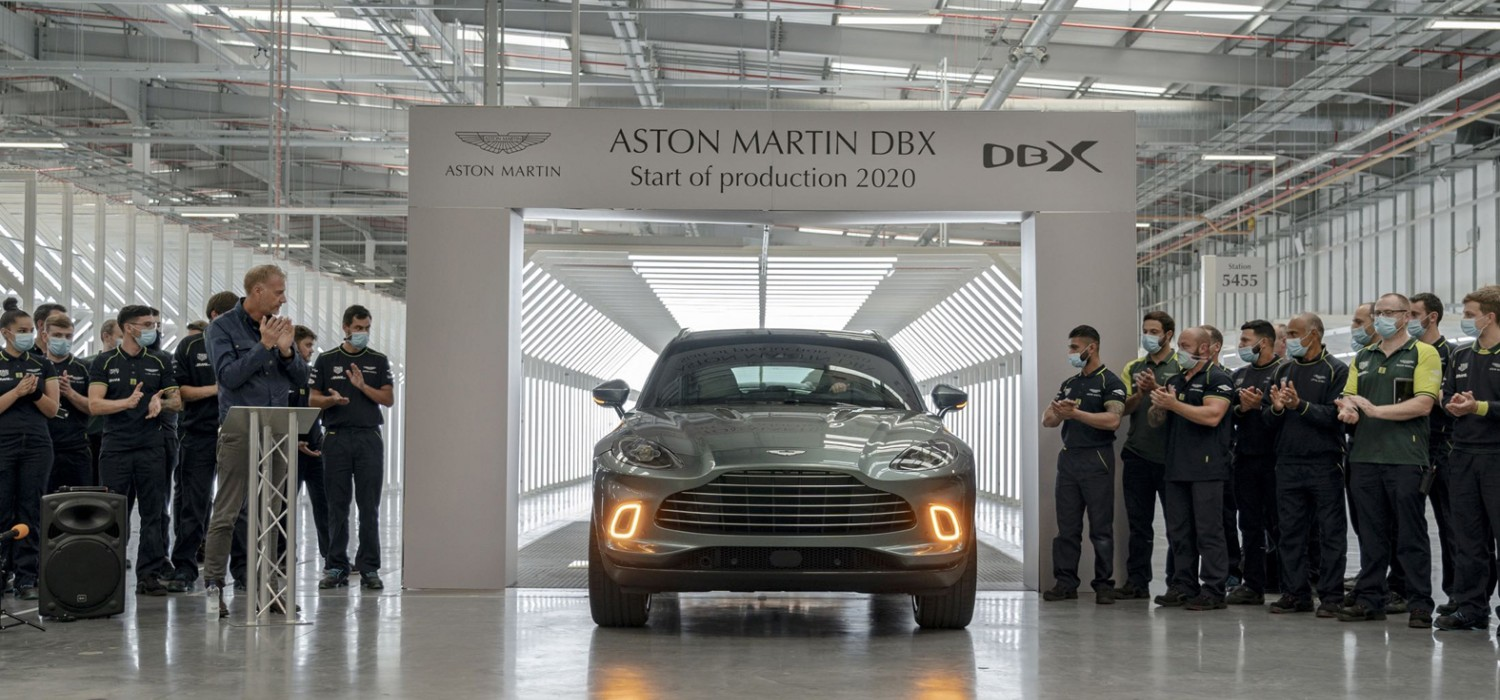Aston starts DBX production