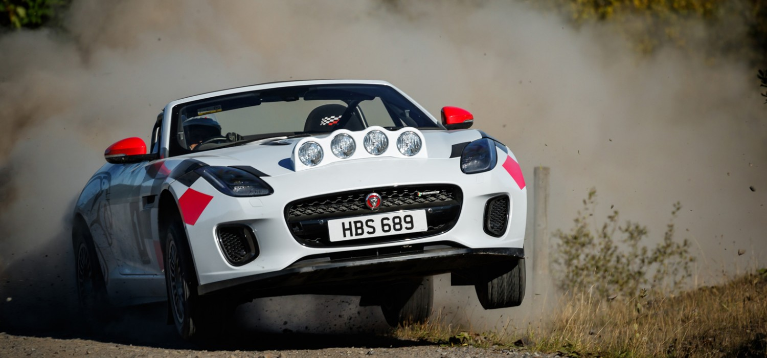 Chequered flag for Jaguar F-Type