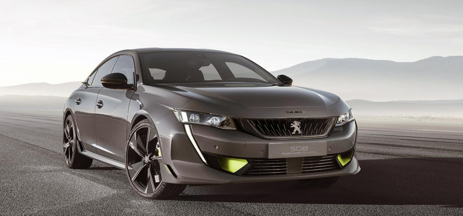Electrifying pace for Peugeot 508 concept
