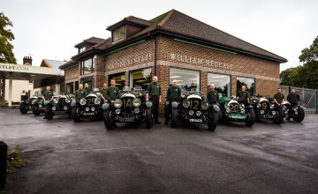 Vintage Bentleys on the fast track