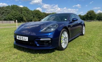 Porsche Panamera plugs in