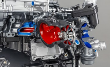 Turbo boosts Jaguar power