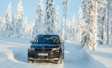 Skoda takes Kodiaq scouting on ice