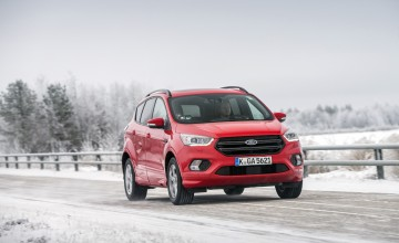 New Ford Kuga growls in Arctic snow