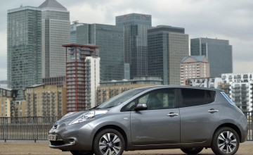 Nissan Leaf charges to the future
