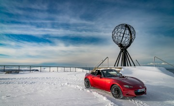 Mazda MX-5 on top of the world