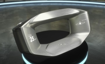Artificial Intelligence steering wheel on show