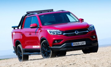 New SsangYong Musso on a charge