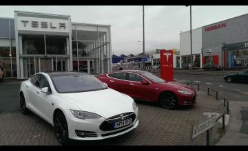 Tesla on a charge