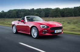Fiat 124 Spider, front, action
