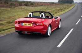 Fiat 124 Spider, rear, action