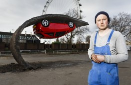 Vauxhall Corsa, Alex Chinneck sculpture