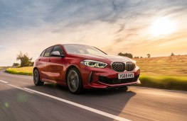 BMW M135i xDrive, 2019, front, action