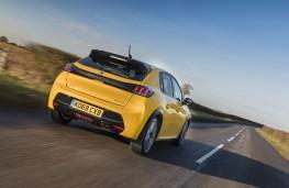 Peugeot 208, 2020, rear, action