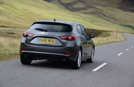 Mazda3, 2017, rear, action