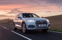 Audi Q5, 2017, front, action