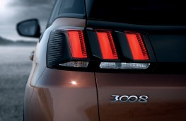 Peugeot 3008, 2017, tail lamps