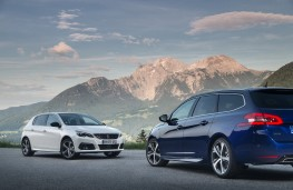 Peugeot 308 hatch and SW, 2017, pair
