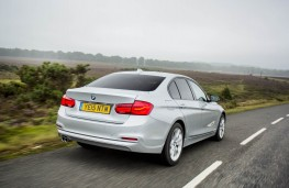 BMW 320d, 2015, rear, action