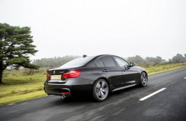 BMW 340i M Sport, 2015, rear, action