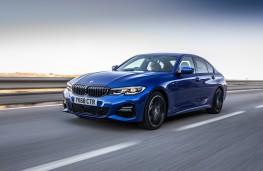 BMW 320d, 2019, front, action