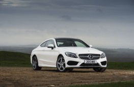 Mercedes-Benz C-Class Coupe, front quarter