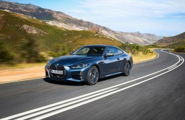 BMW 4 Series Coupe, 2020, front, action