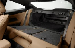 BMW 4 Series Coupe, 2020, rear seats, folded