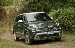 Fiat 500L Cross, 2017, off road, front, action