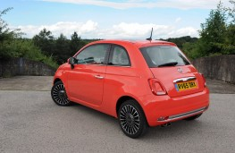 Fiat 500, 2015, rear, static