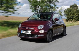 Fiat 500 TwinAir, 2015, front, action