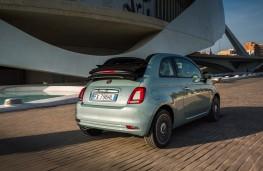 Fiat 500 hybrid, 2020, rear