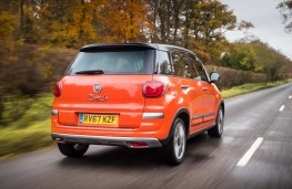 Fiat 500L Cross, 2017, rear, action