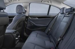BMW 530e, 2017, rear seats