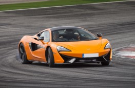 McLaren 570S Coupe, front, track