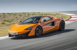 McLaren 570S Coupe, side, action