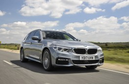 BMW 5 Series Touring, 2017, front, action