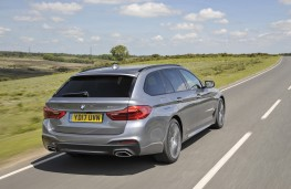 BMW 5 Series Touring, 2017, rear, action