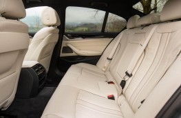 BMW 5 Series, 2017, rear seats