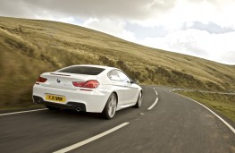 BMW 6 Series Coupe, rear, action