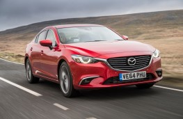 Mazda6 saloon, front, action