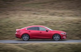 Mazda6 saloon, side, action