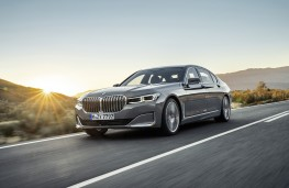BMW 7 Series, 2019, front, action