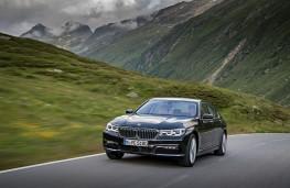 BMW 740Le, front, action